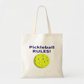 pickleball rules blue text version tote bag