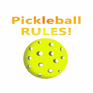 Pickleball Rules! With yellow ball yellow text Acrylic Cut Out