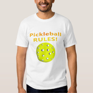 Pickleball Rules! With yellow ball yellow text Shirt