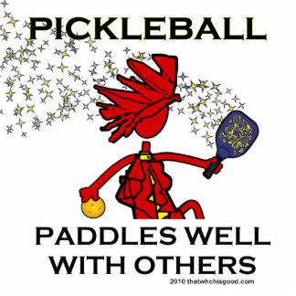 Pickleball se bate bien con otros escultura fotografica