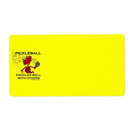 Pickleball se bate bien con otros etiquetas de envío