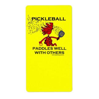 Pickleball se bate bien con otros etiqueta de envío