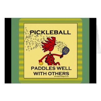 Pickleball se bate bien con otros felicitaciones