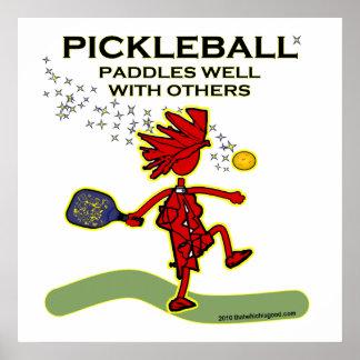 Pickleball se bate bien con otros poster