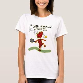 Pickleball se bate bien con otros playera