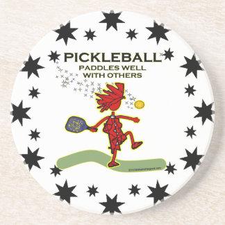 Pickleball se bate bien con otros posavasos cerveza
