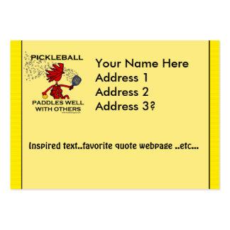 Pickleball se bate bien con otros tarjetas de negocios