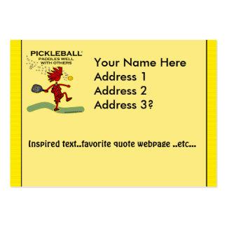 Pickleball se bate bien con otros tarjetas de visita