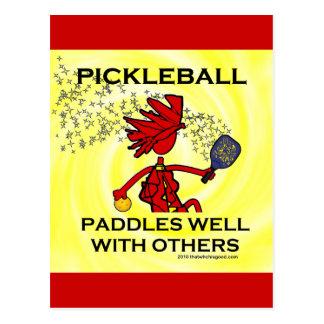 Pickleball se bate bien con otros tarjetas postales