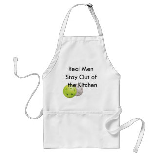 Pickleball -- stay out of the kitchen! adult apron