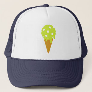 5daa6d7fab6 Pickleball Summer Ice Cream Cone Trucker Hat