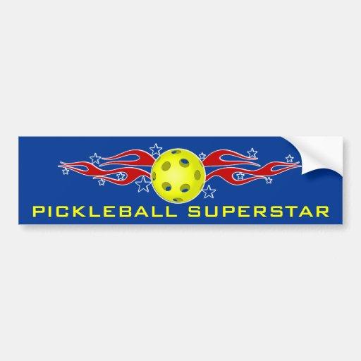 Pickleball Superstar Bumper Sticker Car Bumper Sticker
