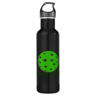 pickleball text n ball green.png stainless steel water bottle