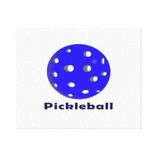 pickleball text n blue ball.png canvas print