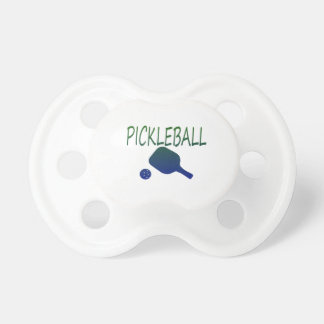 pickleball w paddle and ball blue to green BooginHead pacifier
