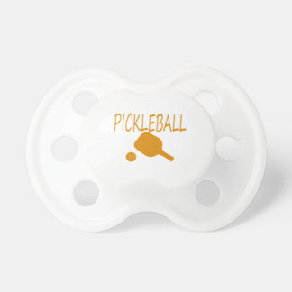 pickleball w paddle and ball orange BooginHead pacifier