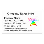 pickleball w paddle and ball rainbow. Double-Sided standard business cards (Pack of 100)