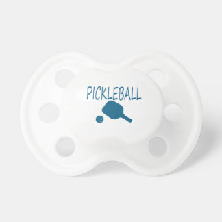 pickleball w paddle and ball teal BooginHead pacifier