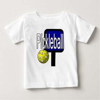 Pickleball, with ball and paddle design picture baby T-Shirt