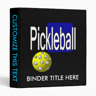 Pickleball, with ball and paddle design picture binder