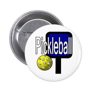 Pickleball, with ball and paddle design picture button