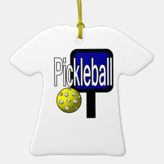 Pickleball, with ball and paddle design picture christmas tree ornament