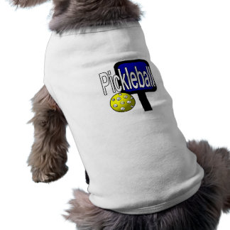 Pickleball, with ball and paddle design picture pet shirt