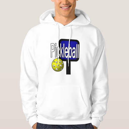 Pickleball, with ball and paddle design picture hooded sweatshirt