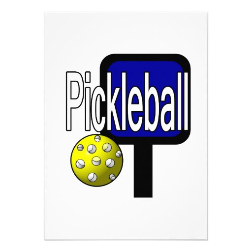 Pickleball, with ball and paddle design picture announcement