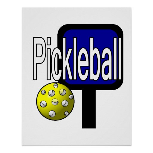 Pickleball, with ball and paddle design picture print
