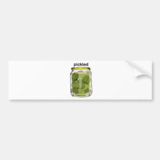 Pickled Brain Car Bumper Sticker
