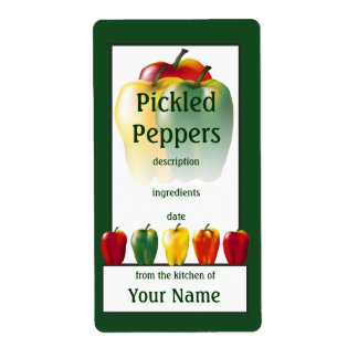 Pickled Peppers Cook's Canning Label Shipping Label