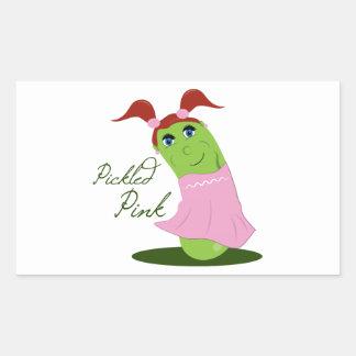 Pickled Pink Rectangular Sticker