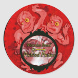 pickled punks classic round sticker