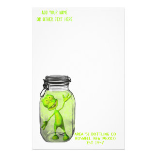 pickledalien, area51, area51, Add your nameor o... Stationery Paper
