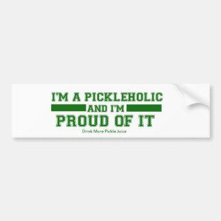 Pickleholic Pickle Juice Bumper sticker Car Bumper Sticker