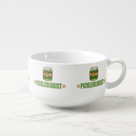 PICKLEOLOGIST Funny Pickle Lovers Soup Mug