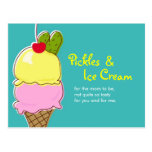 Pickles and Ice Cream, Blue Postcard Invitations