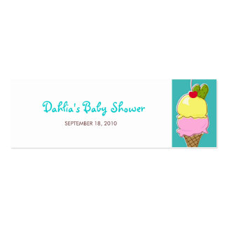 Pickles and Ice Cream Gift Tags Mini Business Card