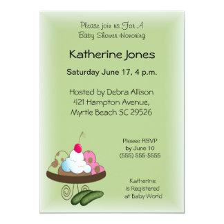 """Pickles and Ice Cream Invitation 5"""" X 7"""" Invitation Card"""