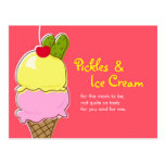 Pickles and Ice Cream Postcard Invitations