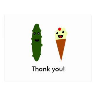Pickles and Ice Cream: Thank you! Postcard