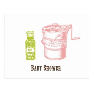 Pickles & Ice Cream Baby Shower Invitation Postcard