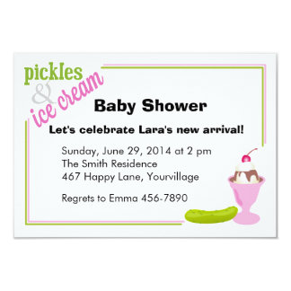 Pickles & Ice Cream Baby Shower Invitations