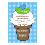 Pickles & Ice Cream Boy Baby Shower Personalized Invite