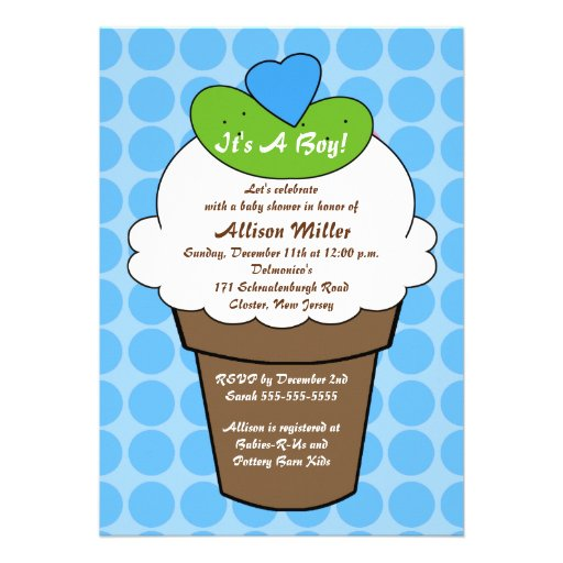 Pickles Amp Ice Cream Boy Baby Shower Personalized Invite