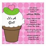 Pickles & Ice Cream Girls Baby Shower Invite