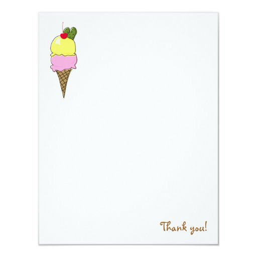 Pickles & Ice Cream Thank You Cards