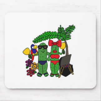 Pickles in Paradise Mouse Pad