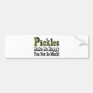 Pickles Make Me Happy Car Bumper Sticker